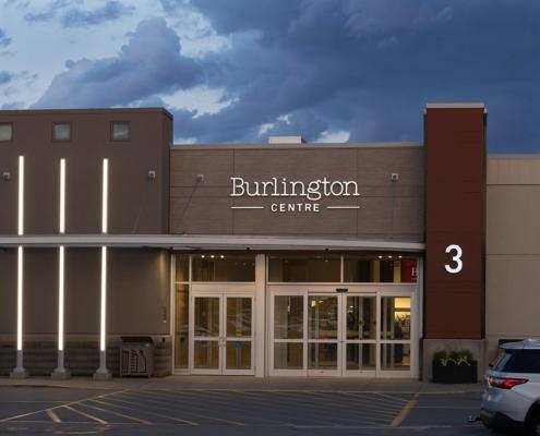 Illuminating Burlington Mall's Entrances